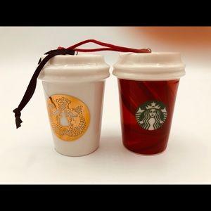 Starbucks Christmas Ornaments miniature tumblers
